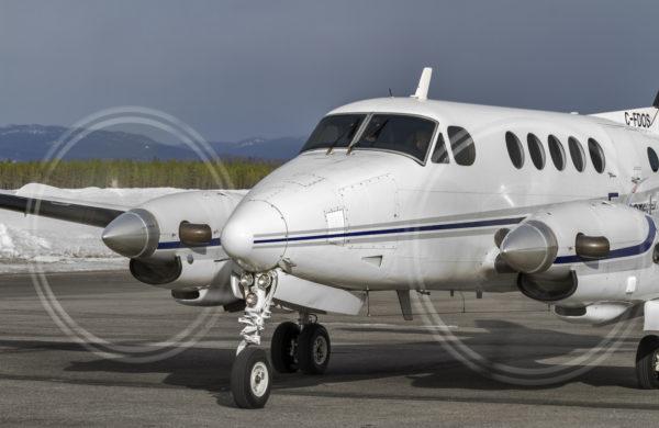 King Air prêt pour le décollage.